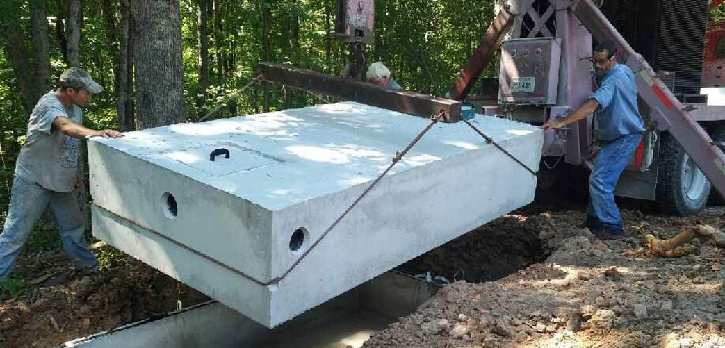 Installation of Concrete Septic Tanks